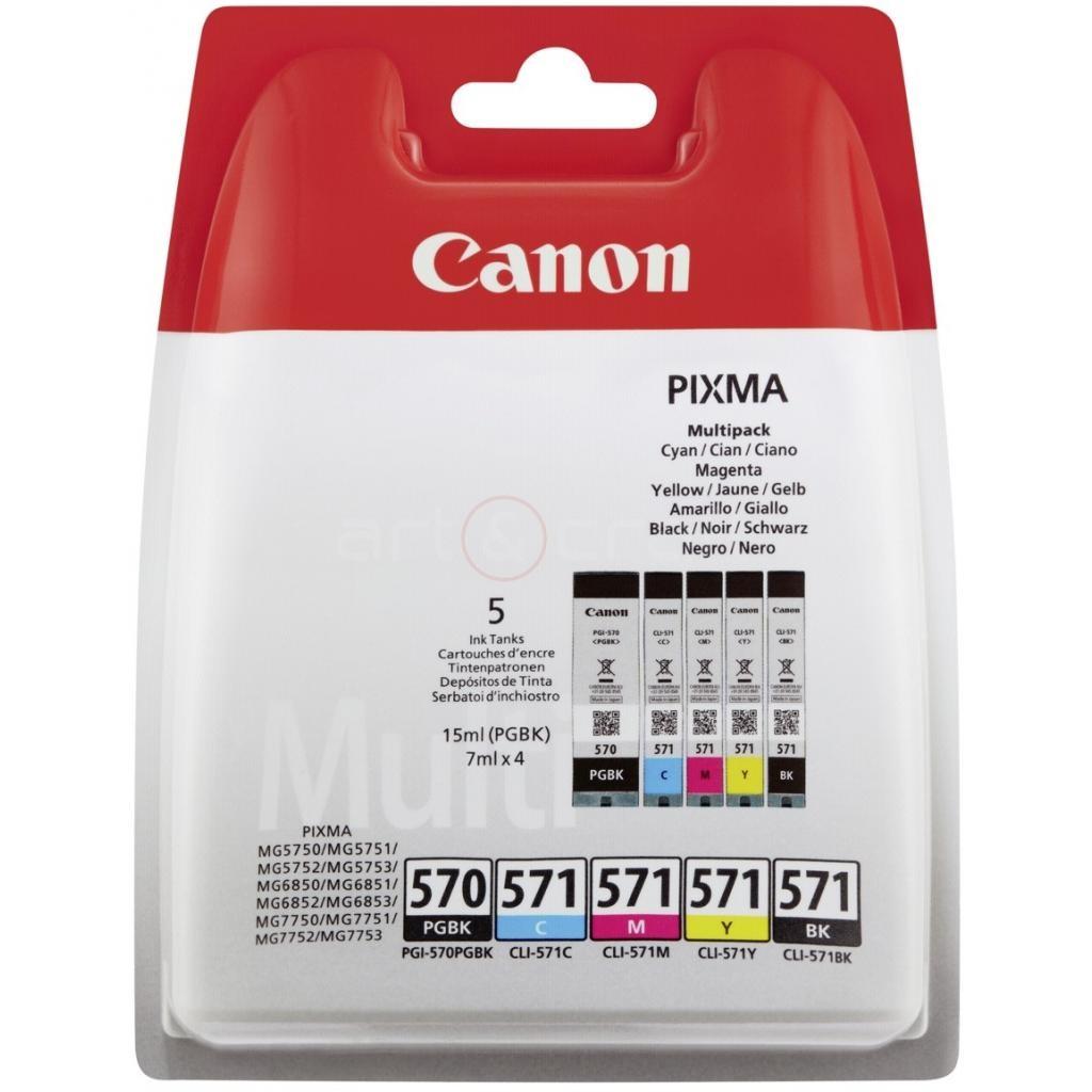 Cartridge Canon PGI-570 PGBk, CLI-571 C/M/Y/Bk, 0372C004 - originální (Multipack)