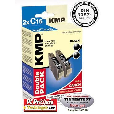 Levně Cartridge Canon BCI-6BK, KMP - kompatibilní (2xČerná)