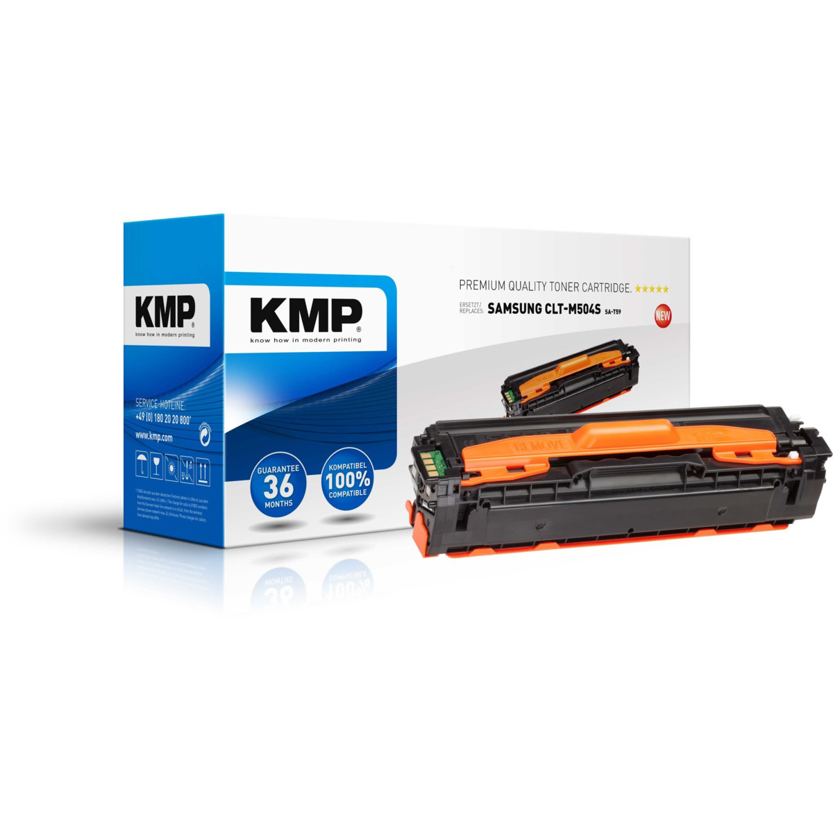 Levně Toner Samsung CLT-M504S, KMP - kompatibilní (Purpurová)