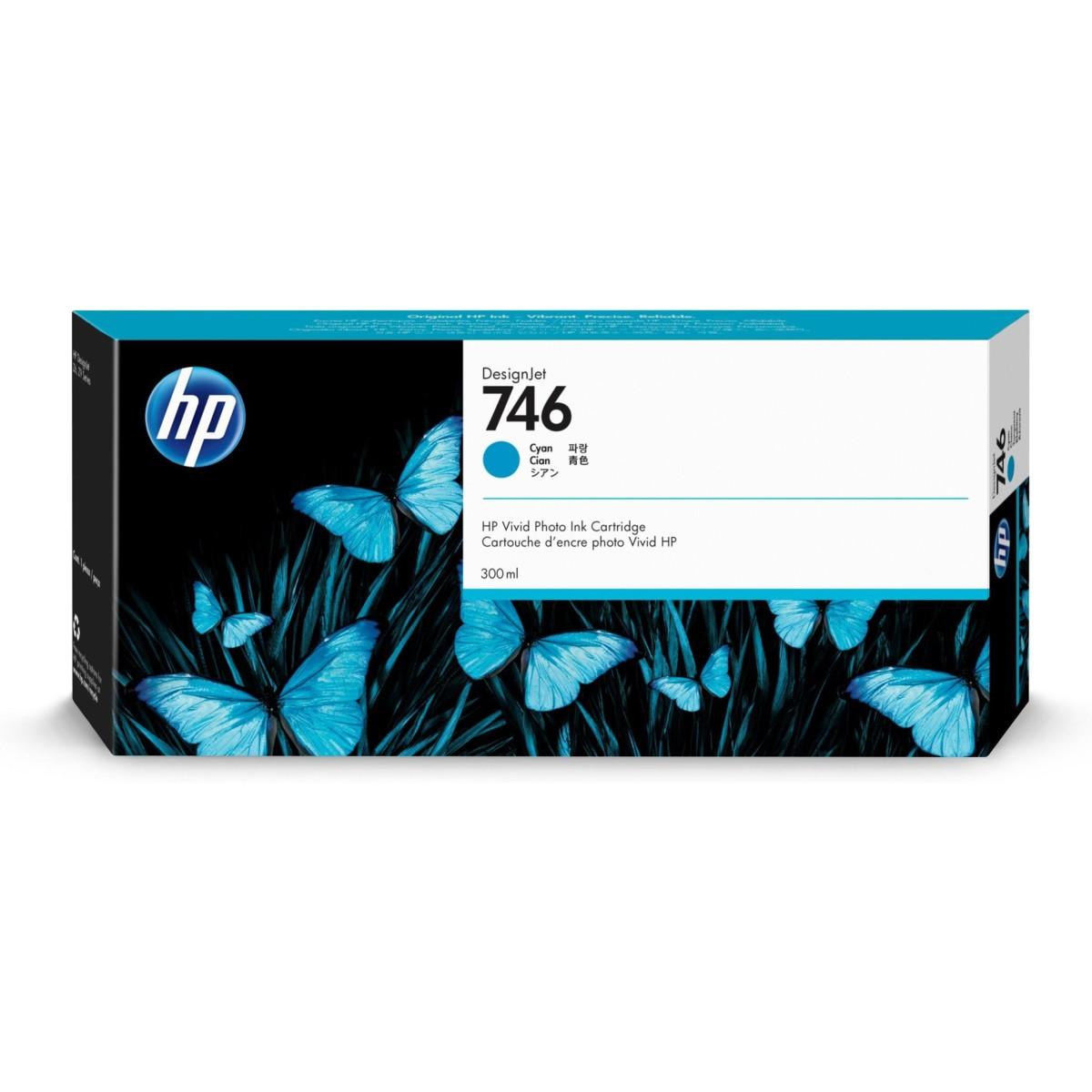 Levně Cartridge HP 746, HP P2V80A - originální (Azurová)