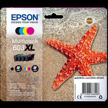 Cartridge Epson 603XL, C13T03A64010 - originální (Multipack CMYK)