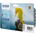 Epson Inkoustová cartridge Epson RX500, RX600, R200, R300, C13T048C40, černá/modrá/čer - kompatibilní