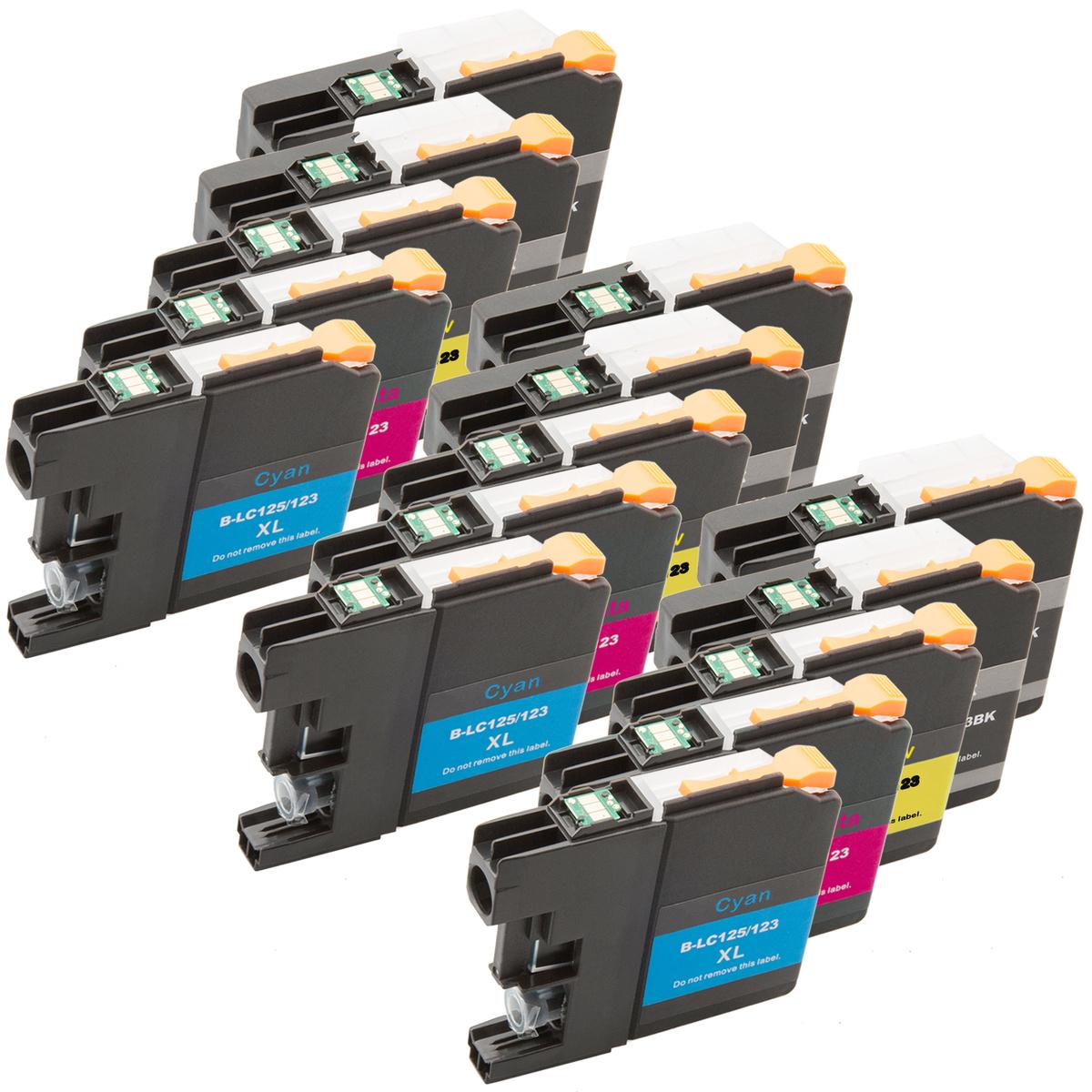 Cartridge Brother LC-123, LC-125 kompatibilní (Azurová)