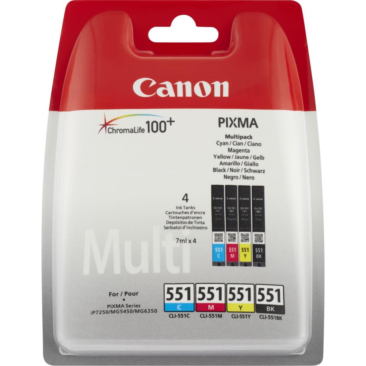 Cartridge Canon CLI-551 C/M/Y/BK, 6509B009 Multi-Pack - originální